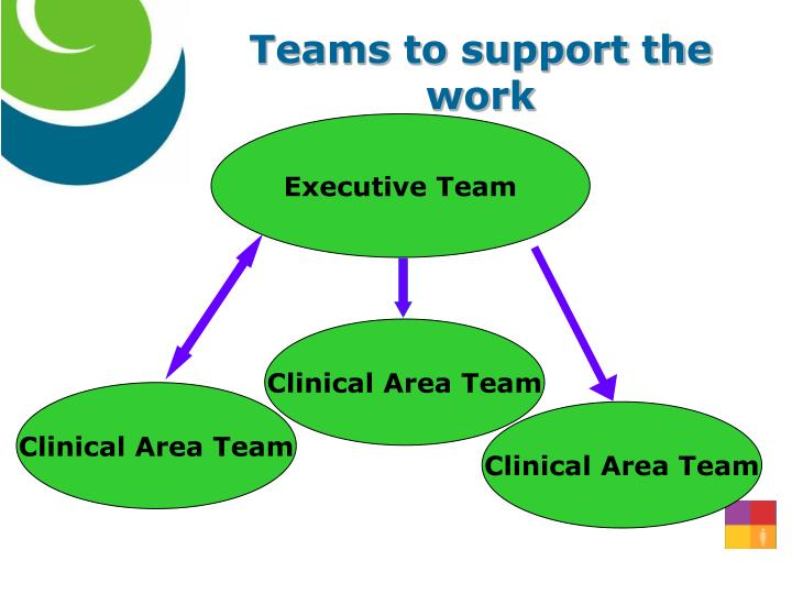 Teams to support the work