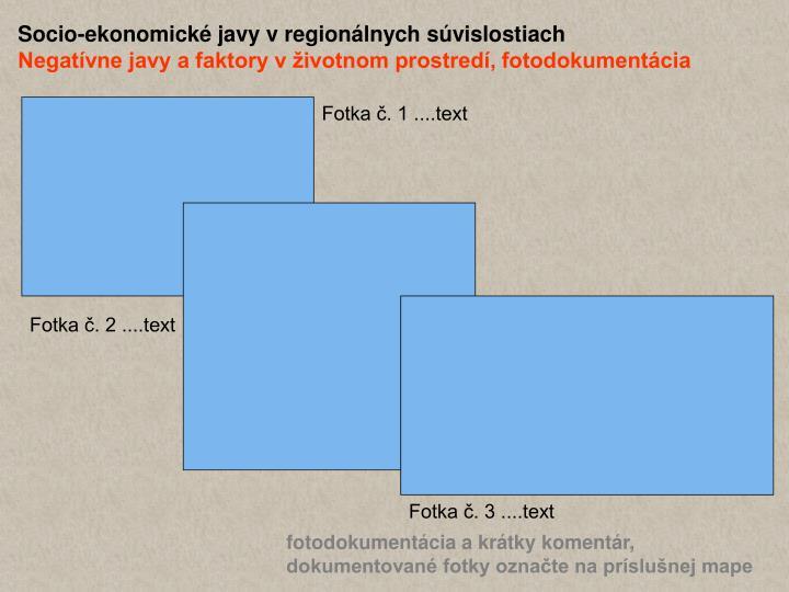 Socio-ekonomické javy v regionálnych súvislostiach