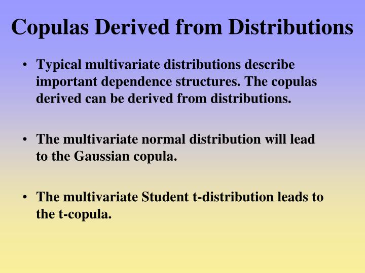 Copulas Derived from Distributions