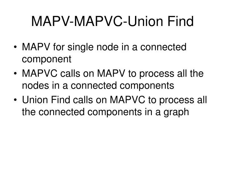 MAPV-MAPVC-Union Find