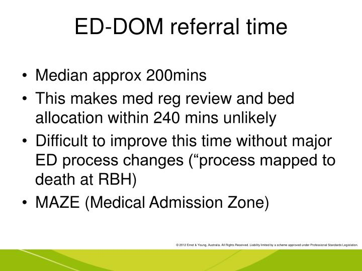 ED-DOM referral time