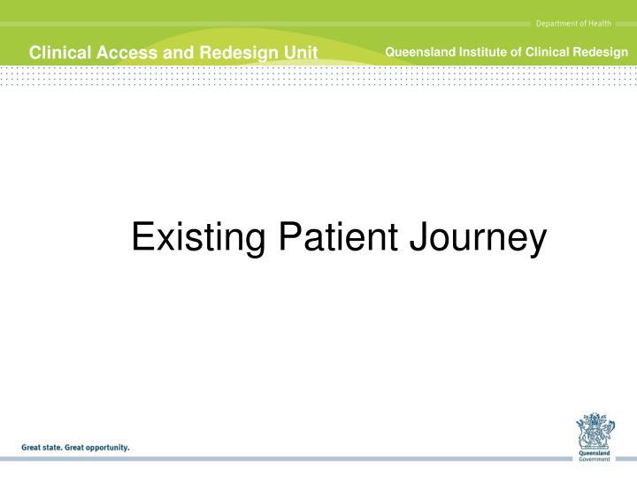Existing Patient Journey
