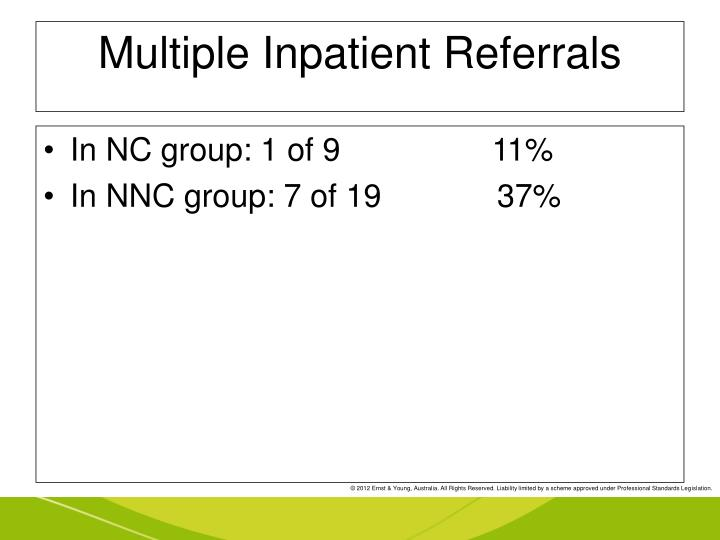 Multiple Inpatient Referrals