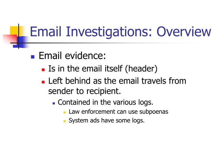 Email investigations overview1