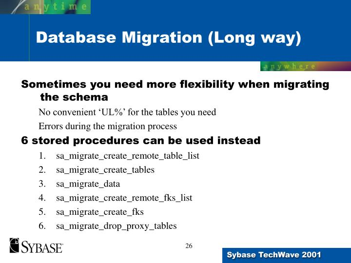 Sometimes you need more flexibility when migrating the schema
