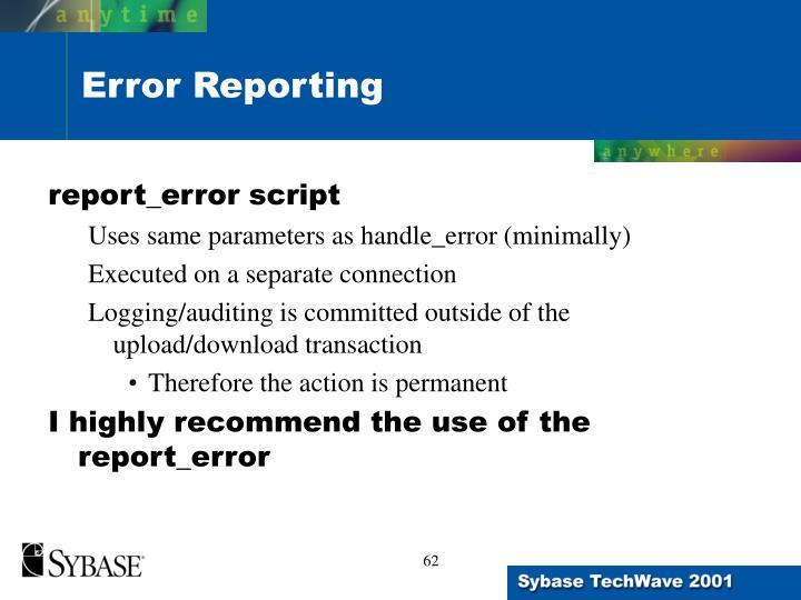 report_error script