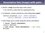 associative lists maps with pairs