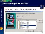 database migration wizard