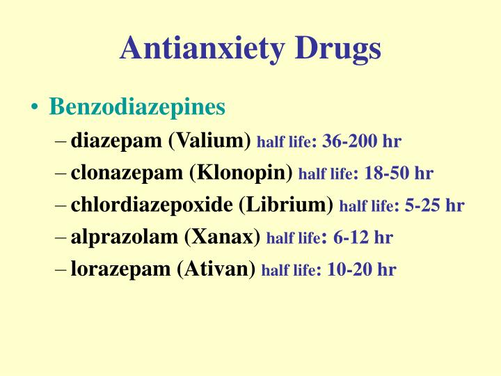 Antianxiety Drugs
