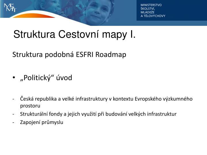 Struktura Cestovní mapy I.