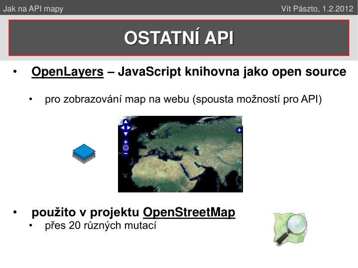 Jak na API mapy