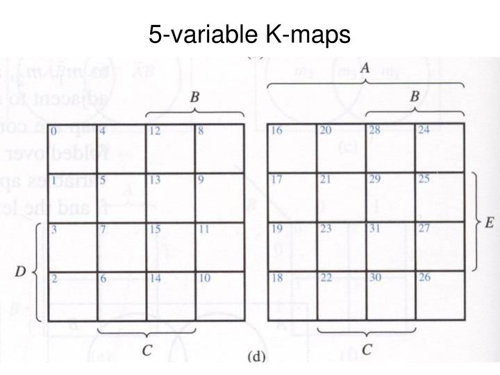 5-variable K-maps