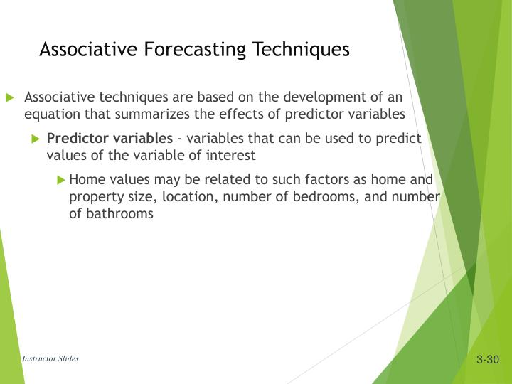 Associative techniques are based on the development of an equation that summarizes the effects of predictor variables
