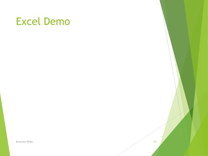 Excel Demo
