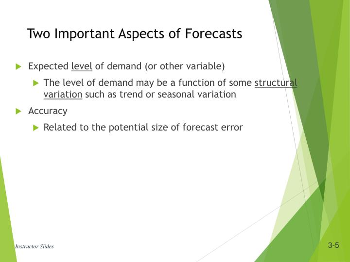 Two Important Aspects of Forecasts