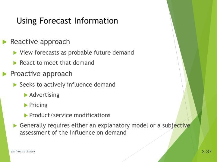 Using Forecast Information