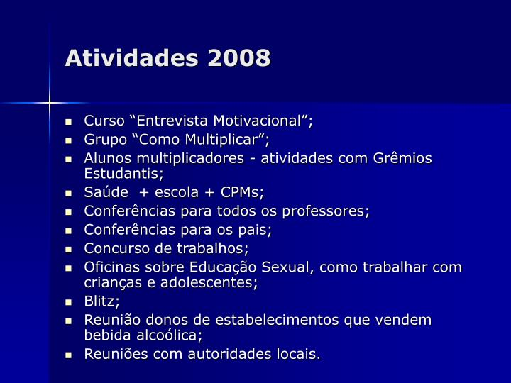 Atividades 2008
