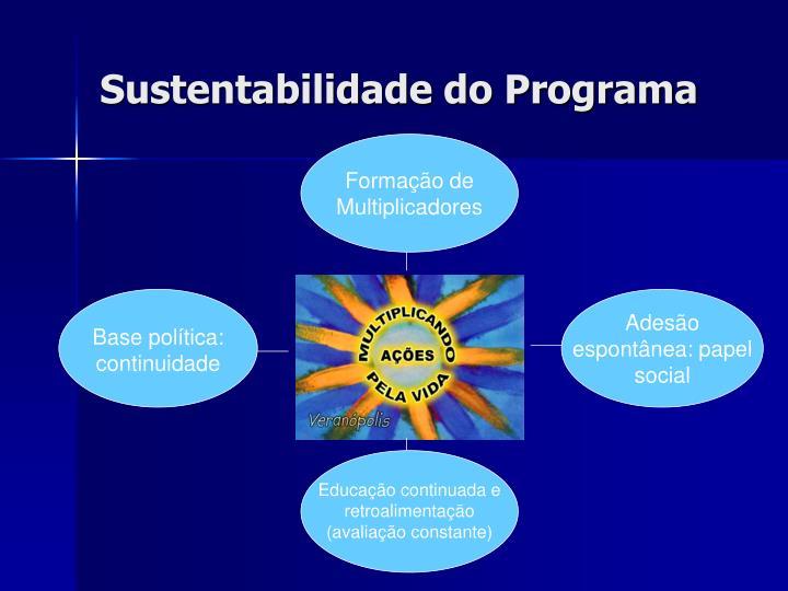 Sustentabilidade do Programa