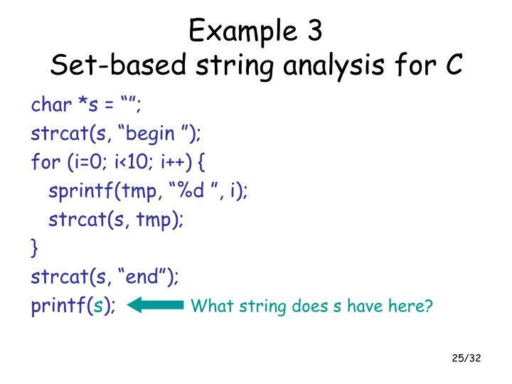 What string does s have here?