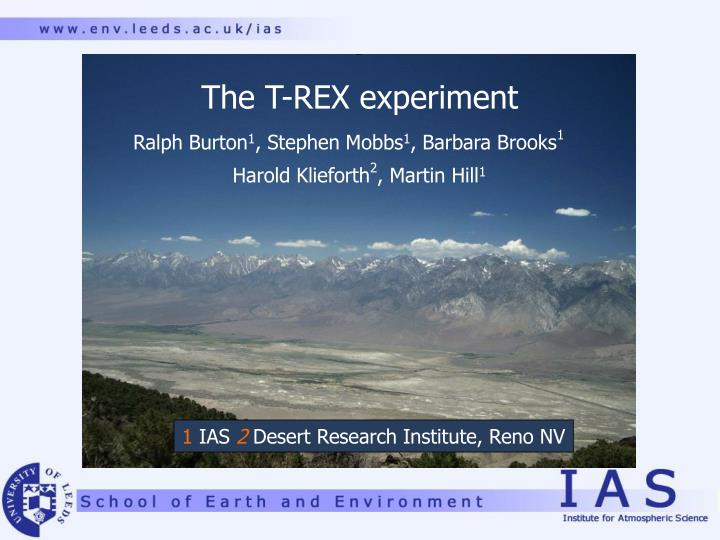 The t rex experiment
