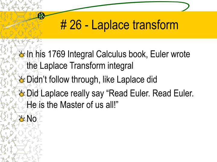 26 laplace transform