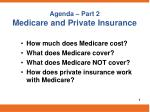 agenda part 2 medicare and private insurance