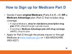 how to sign up for medicare part d