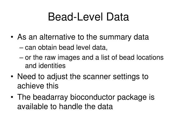 Bead-Level Data