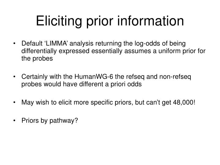 Eliciting prior information