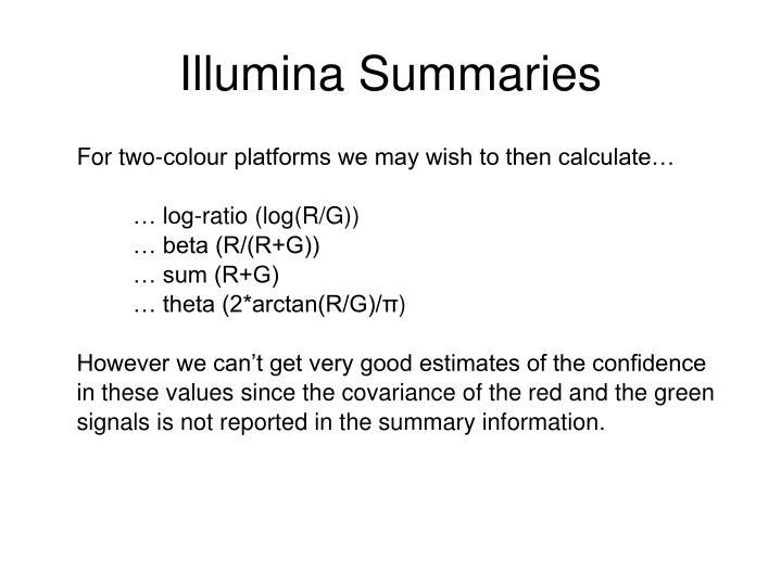 Illumina Summaries