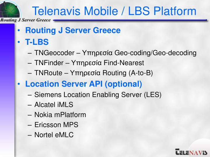 Routing J Server Greece