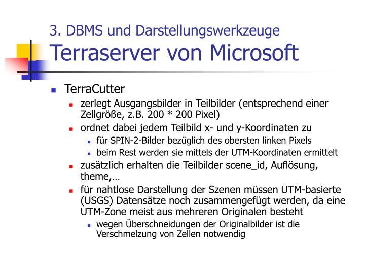 3. DBMS und Darstellungswerkzeuge