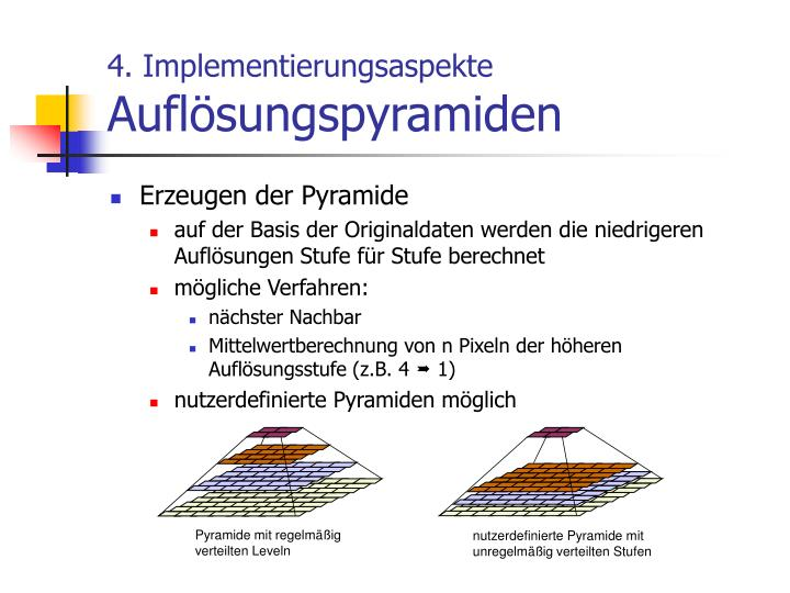 Pyramide mit regelmäßig