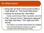 de maoization