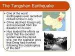 the tangshan earthquake