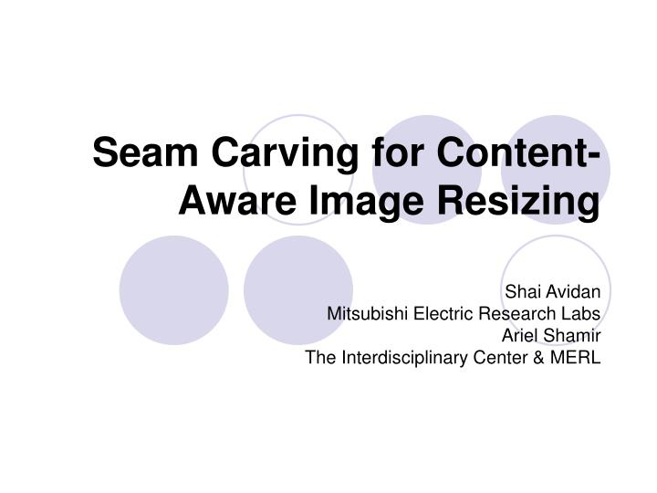 seam carving for content aware image resizing n.