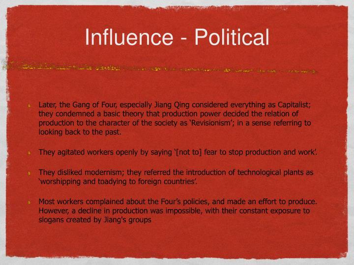 Influence - Political