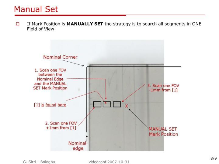 Manual Set
