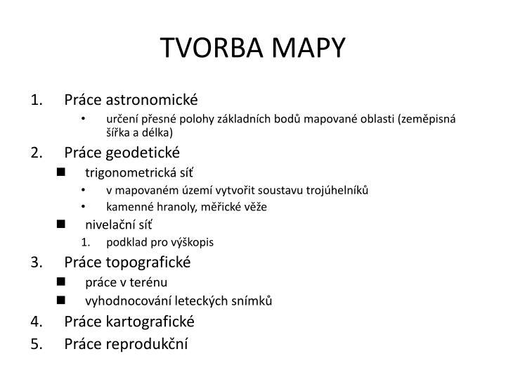 TVORBA MAPY