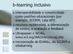 b learning inclusivo