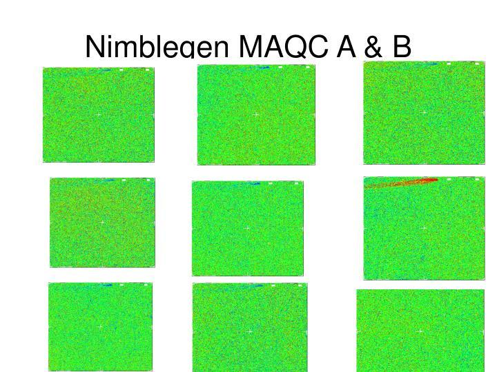 Nimblegen MAQC A & B