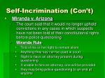 self incrimination con t