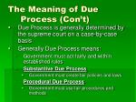 the meaning of due process con t