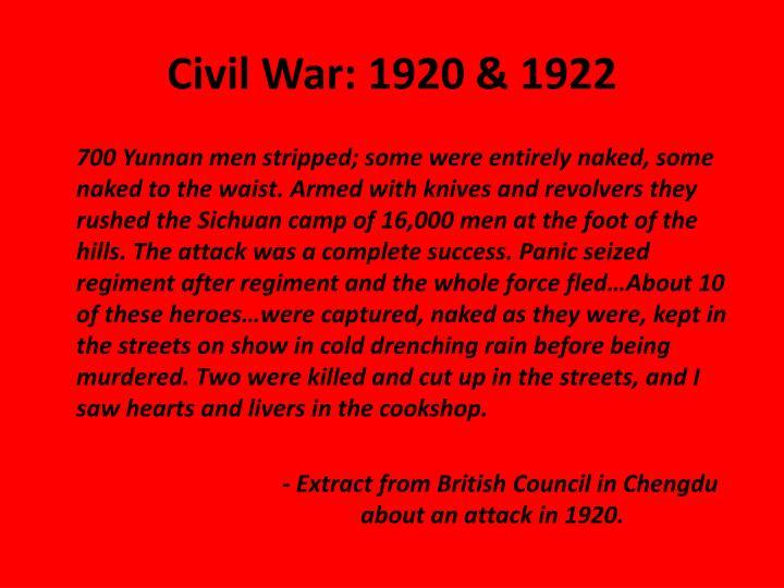 Civil War: 1920 & 1922