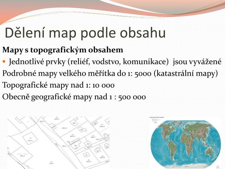 D len map podle obsahu
