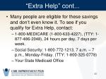extra help cont