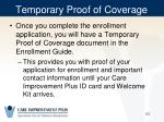temporary proof of coverage