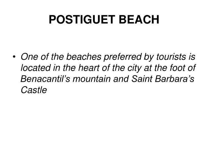 POSTIGUET BEACH