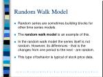 random walk model