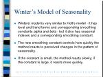winter s model of seasonality
